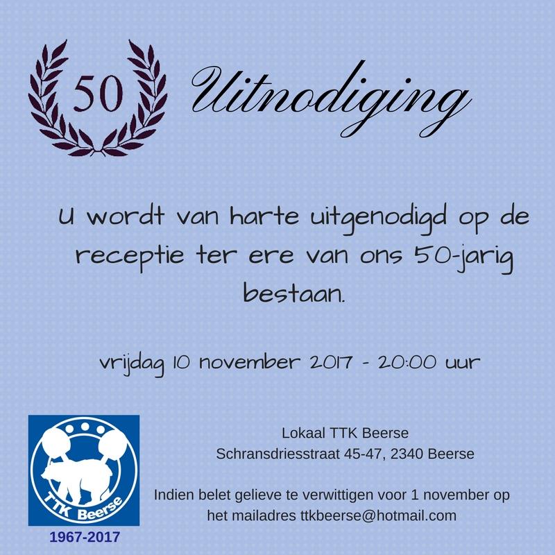 bestaat 50 jaar TTK Beerse bestaat 50 jaar – TTK Beerse bestaat 50 jaar